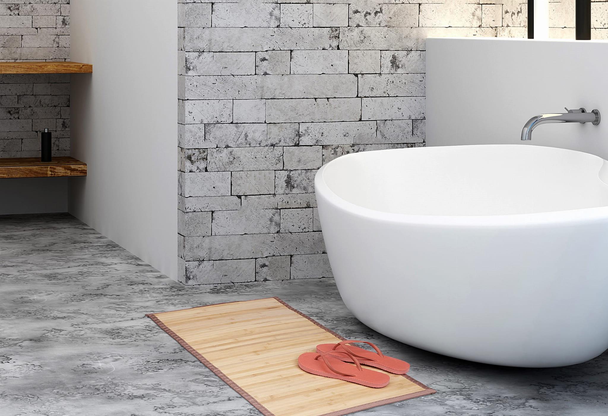 Mata łazienkowa Bambusowadywanik łazienkowy 80 X 45 Cm