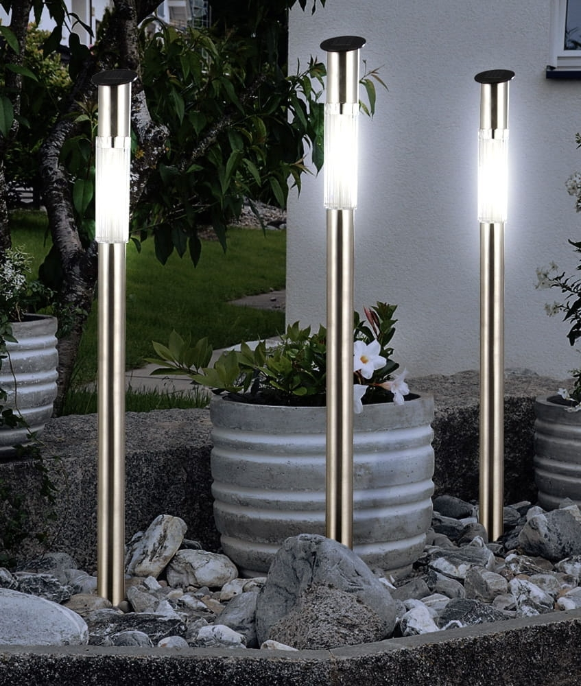 Rewelacyjny Lampa solarna słupek-70 cm-lampy solarne do ogrodu-AMBROTECH DE21