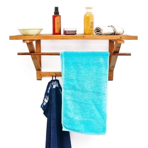 Półka Bambusowa Do łazienki Wieszak Na Ręczniki