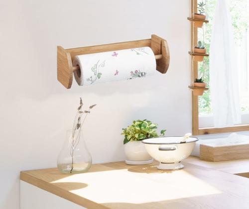 Uchwyt Na Ręcznik Papierowy Uchwyt Na Ręcznik Kuchenny Bambus Akcesoria Do Kuchni